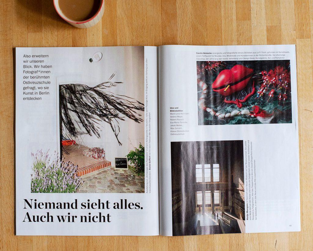 Tagesspiegel BERLINER-Kunst, Strecke mit acht Fotografen zum Thema Kunst.